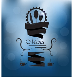 Menu poster on glass vector image