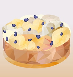 Cheesecake polygon vector