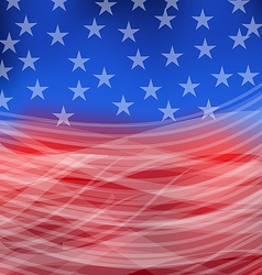 Abstract american flag for happy 4th of july vector