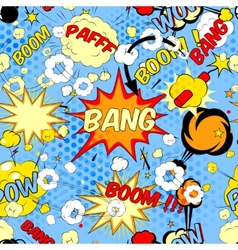 Comic book speech bubbles vector