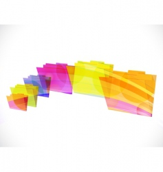 folder rainbow vector image