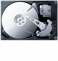 titanium hard disk drive vector image
