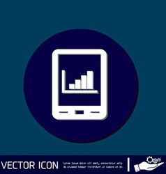 Tablet pad with diagram vector