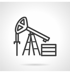 Oil derrick simple line icon vector