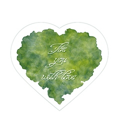 Abstract heart with handwritten inscription vector