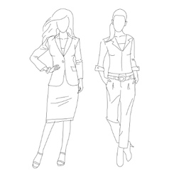 Fashion business women vector