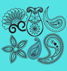Paisley and swirls decoration element vector