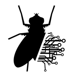 Fly tech vector image