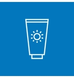 Sunscreen line icon vector