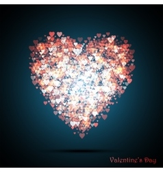Valentines bokeh hearts many of transparent vector