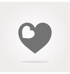 Valentine heart sign web button vector