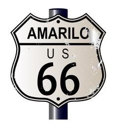 Amarillo route 66 sign vector