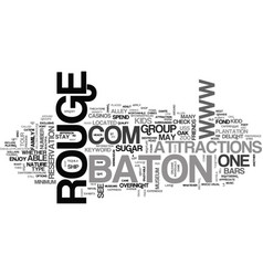 Baton rouge text word cloud concept vector