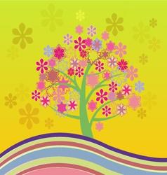 Blossom cherry tree vector