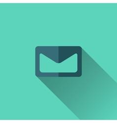 Blue envelope icon Flat design vector image