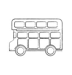 bus double deck icon image vector image