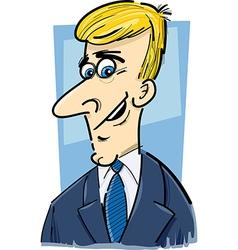 businessman caricature cartoon vector image vector image