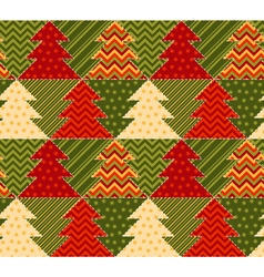 Christmas tree green and red color abstract vector