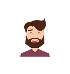 Cute man face vector