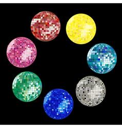 disco ball collection vector image vector image