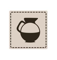 Emblem sticker water pitcher icon vector