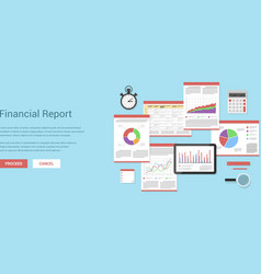 financial report vector image vector image