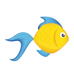 fish sea colored symbol vector image