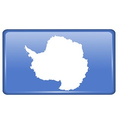 Flags Antarctica in the form of a magnet on vector image