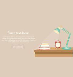 flat design banner for education e-learning vector image