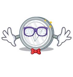 Geek tron coin character cartoon vector