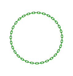 Green chain in shape of circle vector