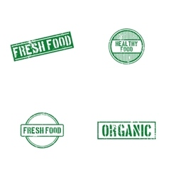 Healthy food labels vector image