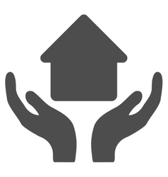Home care hands flat icon vector
