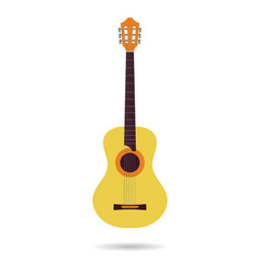 isolated flat icon of the classical guitar vector image vector image