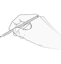 isolated hand with pencil vector image vector image
