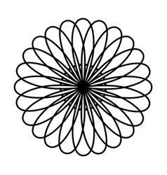 monochrome circular strokes forming petals vector image vector image