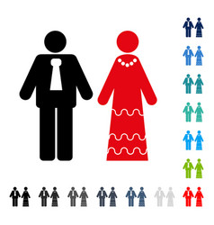 newlyweds icon vector image