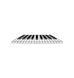 Piano-Clavier-380x400 vector image