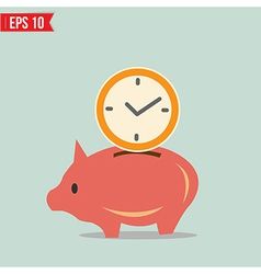 Piggy bank saving money - - EPS10 vector image