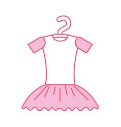 pink tutu ballet on the hanger costume vector image