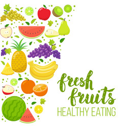 Side vertical border with fruits vector