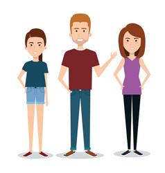 Standing people design vector