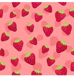 Strawberry seamless pattern pink1 vector