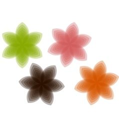 Transparent blooming vector