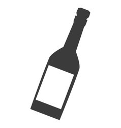 Wine or champagne bottle icon vector image