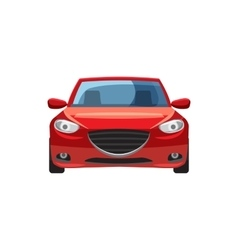 Red car icon in cartoon style vector