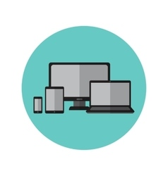 Electronic gadgets and devices icons vector image