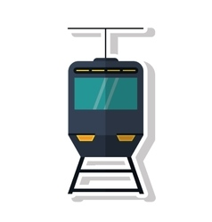 Isolated cable car ivehicle design vector