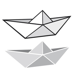 Origami paper boat vector