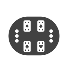Cards table vector